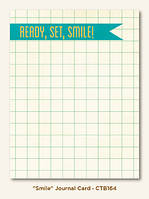 Карточка для журналинга My Mind's Eye - Collectable - Remarkable - Smile Journal Card, CTB164