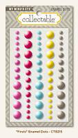 Декоративные капли на клейкой основе My Mind's Eye - Collectable - Unforgettable -Firsts Enamel Dots, CTB215