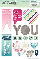 Наклейки My Mind's Eye - Cut and Paste - Adorbs Special Cardstock Stickers, CP1002