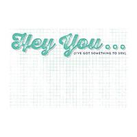 Карточка для журналинга My Mind's Eye - Cut and Paste - Charm - Hey You Journal Card, CP1047