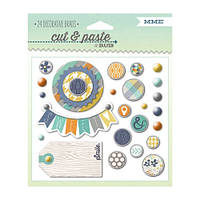 Брадс My Mind's Eye - Cut and Paste - Charm Smile Decorative Brads, CP1043