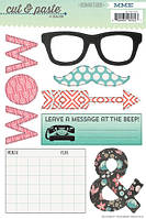 Наклейки My Mind's Eye - Cut and Paste - Flair Today Cardstock Stickers, CP1062