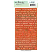 Наклейки My Mind's Eye - Cut and Paste - Presh Beautiful Cardstock Stickers - Tiny Words, CP2003