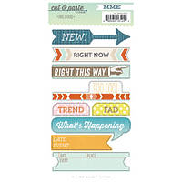 Наклейки My Mind's Eye - Cut and Paste - Presh Label Cardstock Stickers - Right Now, CP2024