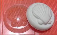 Пластиковая форма для мыла ракушечка