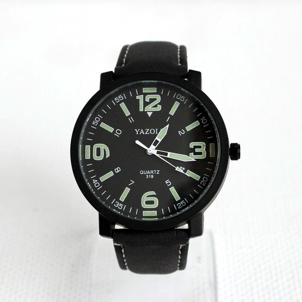 Мужские наручные кварцевые часы Yazole-319 черный ремешок - Valakum в  Херсонской области c711637914e
