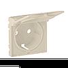 Лицевая панель для розетки с крышкой 2К+З Valena Life Legrand, цвет слоновая кость