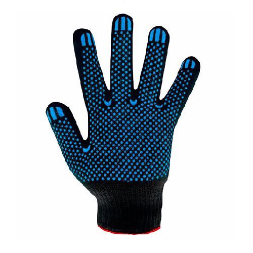 Перчатки трикотажные SIZ с ПВХ точкой RT1155-5-NO, черного цвета, р.10