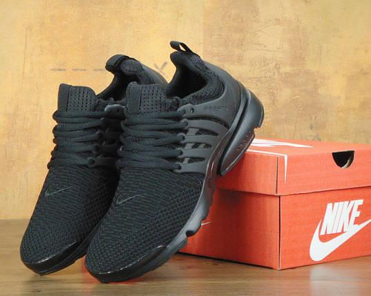 Мужские кроссовки Nike Air Presto.Черные,текстиль, фото 2