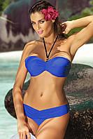 Стильный купальник-бандо M 158 NICOLE (S-2XL в расцветках) синий, M
