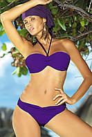 Стильный купальник-бандо M 158 NICOLE (S-2XL в расцветках) фиолетовый, L