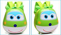 Рюкзак детский дошкольный 3D ортопедический с героями мультфильма Супер Крылья оригинал зеленый