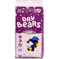 Dry Bears Slim&Cool Подгузники 3 midi (4-9 кг),48 шт