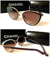 Женские солнцезащитные очки лисички новинка Chanel коричневые