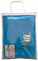 Парео (килт, юбка) для бани и сауны мужское светло-синее, Ярослав