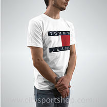 Футболка TOMMY Hilfiger JEANS | Белая | Реальные фото , фото 3