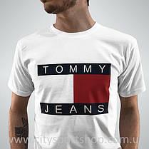 Футболка TOMMY Hilfiger JEANS | Белая | Реальные фото , фото 2