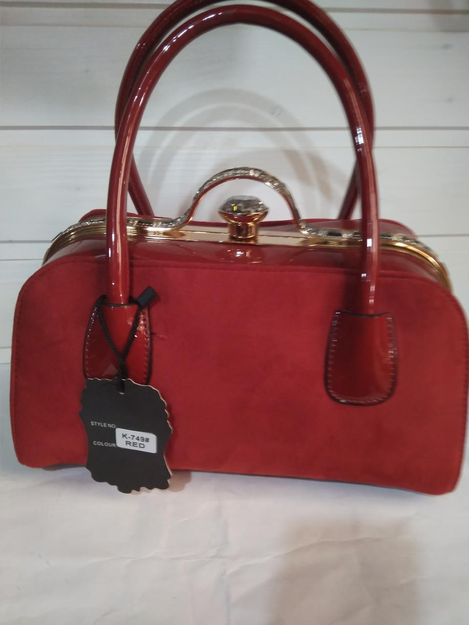 d5ba8272ece2 Замша Женская сумка с жестким каркасом внутри и застежкой типа