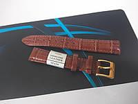"""Кожаный ремешок для наручных часов - светло коричневый - """"Nagata"""" 16 мм Spain"""