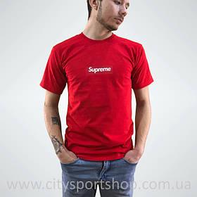 Футболка Supreme box logo. Красная мужская. Реальные фотки. Все размеры Качество | Качественная реплика