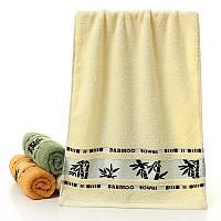 Бамбуковое полотенце махровое  140x70 см (белый)