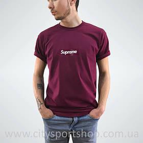 Футболка Supreme box logo. Бордо мужская. Реальные фотки. Все размеры Качество | Качественная реплика