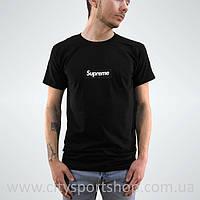 Футболка Supreme box logo. Черная мужская. Реальные фотки. Все размеры Качество