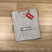 Футболка Supreme box logo. Серая Реальные фотки. Все размеры, фото 2