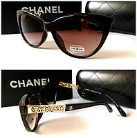 Женские очки коричневые Chanel новинка 2018