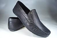 Мужские мужские мокасины кожаные faber 142601.1 черные   весенние , фото 1