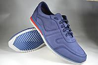 Мужские мужские спортивные туфли кожаные faber 190213.7 синие   весенние , фото 1