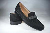 Женские женские туфли замшавые kolari 6237 черные   весенние , фото 1