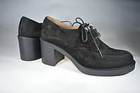 Женские женские туфли замшавые kolari 7257 черные   весенние , фото 1