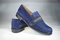 Женские женские туфли замшавые kolari 6268 синие   весенние , фото 1