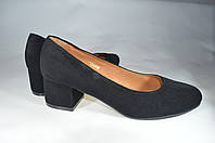 Женские женские туфли замшавые kolari 7247 черные   весенние , фото 1
