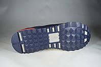 Мужские мужские кроссовки кожаные на  шнурках faber 121802.7 синие   весенние , фото 1