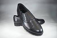 Женские женские кожаные туфли mida 21827ч черные   весенние , фото 1