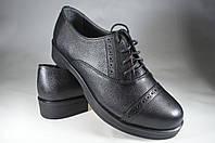 Женские женские кожаные туфли mida 21405ч.флр черные   весенние , фото 1