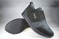 Женские женские кроссовки кожаные mida 21850нуб.ч черные   весенние , фото 1