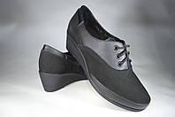 Женские женские кожаные туфли mida 21570нуб.ч черные   весенние , фото 1