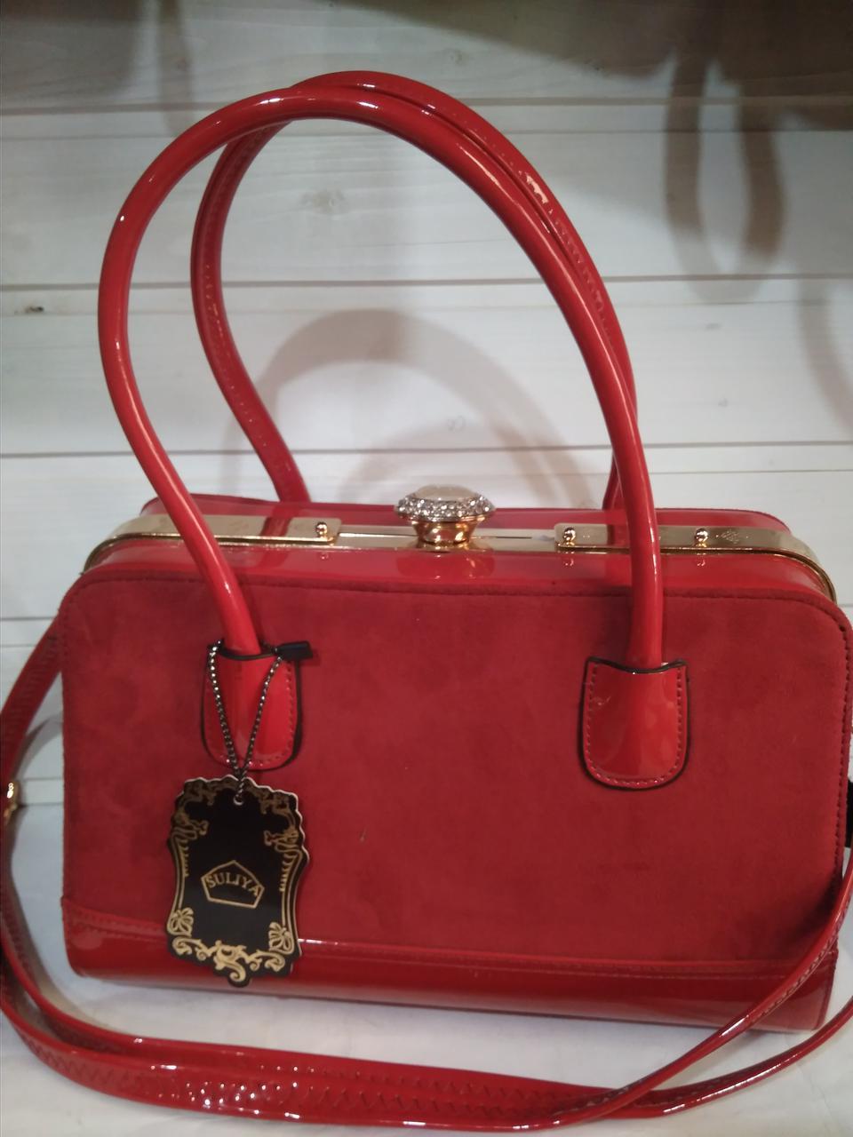 43e68b85ebf0 ... Женская сумка с жестким каркасом внутри и застежкой типа