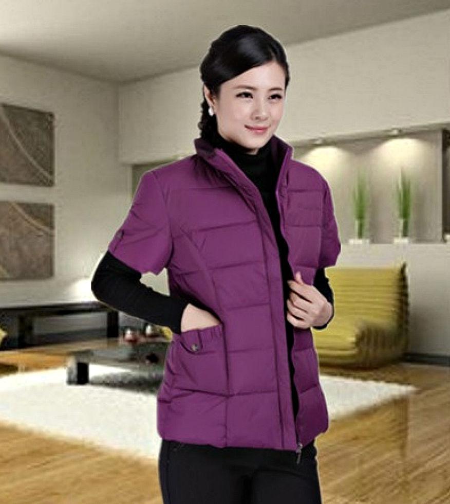 . Куртка-жилет с хлопка для женщин.