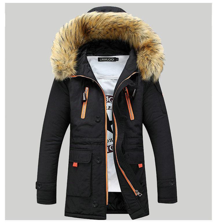 : Модные молодежные, теплые мужские зимние куртки-парки с капюшоном.