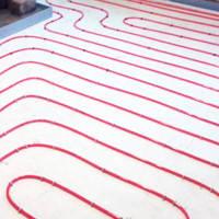 Укладка трубы теплого пола (стен), согласно проекту