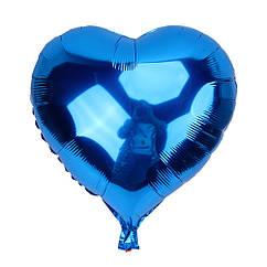Шарик (45см) Сердечко синее