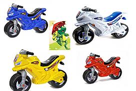 Детский МОТОЦИКЛ 501B СИНИЙ,КРАСНЫЙ, ЖЕЛТЫЙ,БЕЛЫЙ  беговел, толокары,  отличный мотоцикл для детей