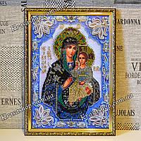 Готовая Алмазная вышивка 34х24 икона Неувядаемый цвет, фото 1