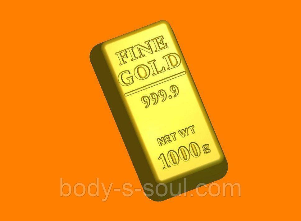 Пластиковая форма для мыла слиток золото