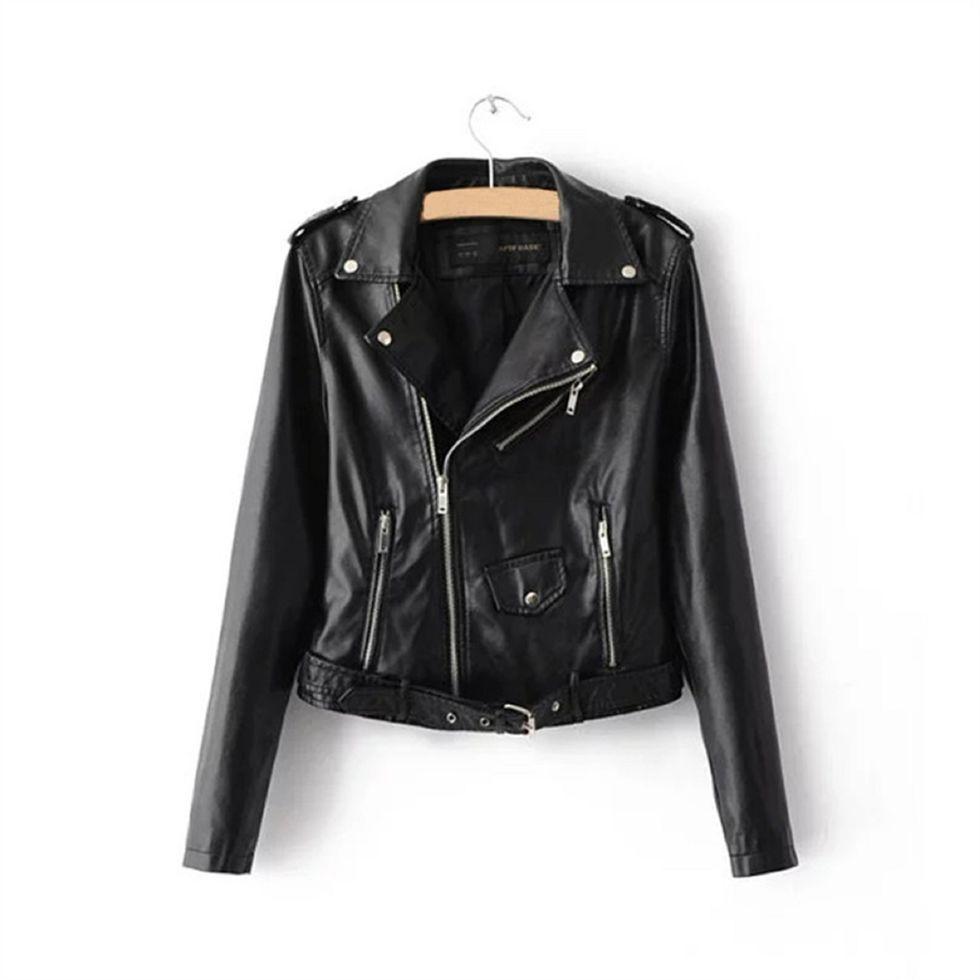 Кожаные куртки для женщин-(Болеро)