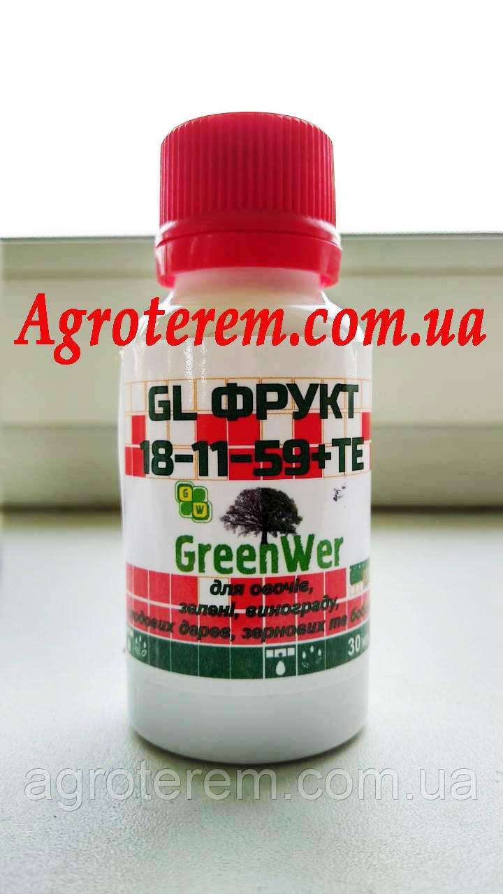 ГроГрин фрукт 18-11-59+TE (GEL Fruit GROGREEN) 30 мл.(гель)